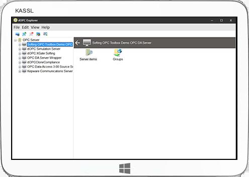 OPC Explorer UA,COM DA & XML DA