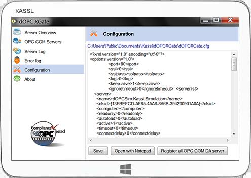 OPC XML DA Server